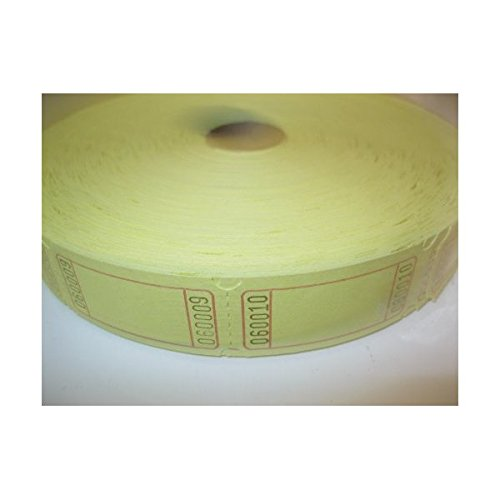 (2000 Blank Yellow Single Roll Consecutively Numbered Raffle)