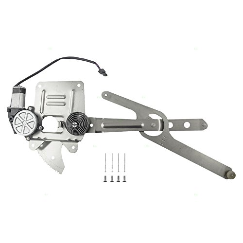 Drivers Front Power Window Lift Regulator with Motor Assembly Replacement for Chevrolet GMC Isuzu Pickup 93386009