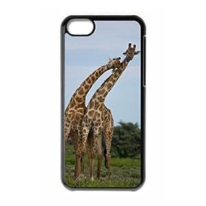 LZHCASE Diy Hard Shell Case Giraffe For Iphone 5C [Pattern-1]