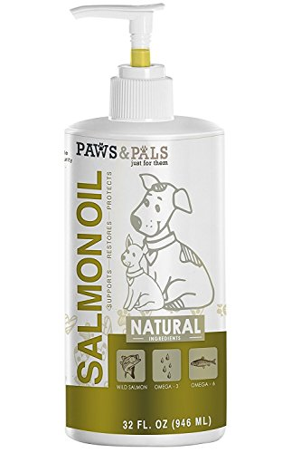 Oil for Dogs - 32 oz Pure Wild-Alaskan Natural Pet Supplement (Pet Supplements)