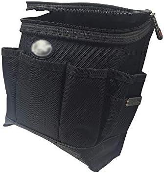 ツールベルト 多機能ポータブルキャンバス電気技師ツールベルトバッグでカバーツールポーチバッグブラック 大工のエプロン (Color : Black, Size : 15x8.5x22cm)