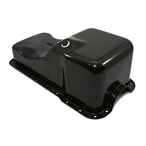 Assault Racing Products A9078PBK for Small Block Ford Front Sump Black Stock Oil Pan SBF 260 289 5.0 Windsor