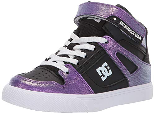 DC Girls' Pure HIGH-TOP SE EV Skate Shoe, Lavender, 2.5 M M US Little Kid