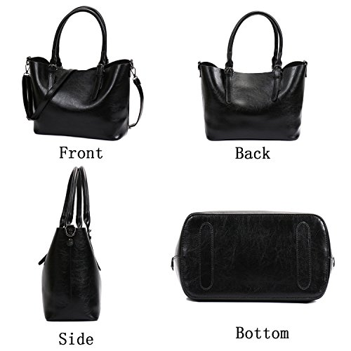shoulder Bag Handbag Black Shopper Women Leather SIFINI PU Satchel Tote c bag bag Casual Stylish Ladies cO7Xc5F6q