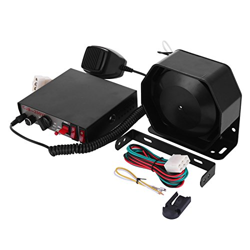 Bestauto Vehicle Siren Box 8 Tone 200W Siren Bundle Car Warning Alarm Emergency Warning Siren with PA Speaker MIC System for Police Fire Ambulance Traffic Engineer Vehicles (200W 12V) - Fire System Package