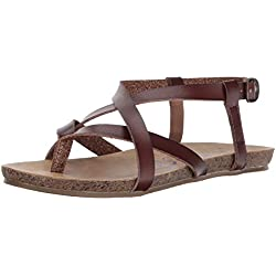 Blowfish Women's Granola Fisherman Sandal, Whiskey Dyecut PU, 8.5 M US