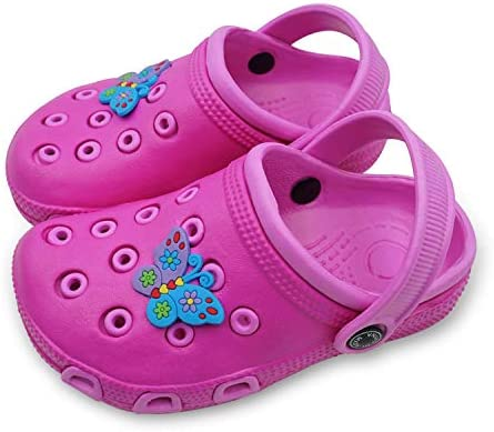 Non-Slip Girls Boys Clogs Slide Lightweight Garden Shoes Slip-on Beach Pool Shower Slippers Namektch Toddler Little Kids Clogs Slippers Sandals