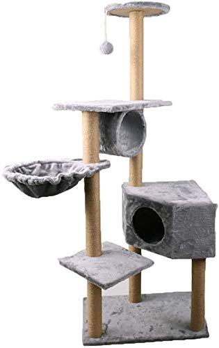 FTFDTMY Katzenspielzeug, großformatiger Sisal-Katzenkletterrahmen Haustiermöbel Kratzbaum Kratzsäule Einteiliges Yan…