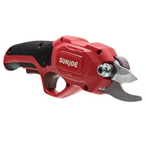 Sun Joe PJ3600C-RED 3.6V 2000 mAh .6 Sec Rapid Cutting Cordless Rechargeable Power Pruner, Red