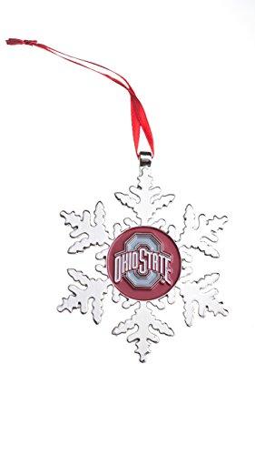 Collegiate Pulse Ohio State Buckeyes NCAA Snowflake Christmas Ornament ()