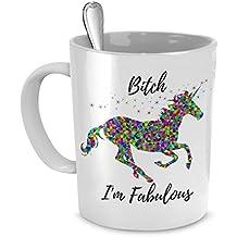 Bitch I'm Fabulous - Funny Unicorn Mug - Ceramic Mug - Cute Coffee Gift (11 oz)