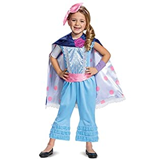 Disguise Disney Pixar Bo Peep Toy Story 4 Deluxe Girls' Costume, Blue, Medium (7-8)
