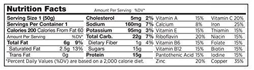 PR Bar - Chocolate Peanut Gluten-Free Protein Bar (Pack of 12)