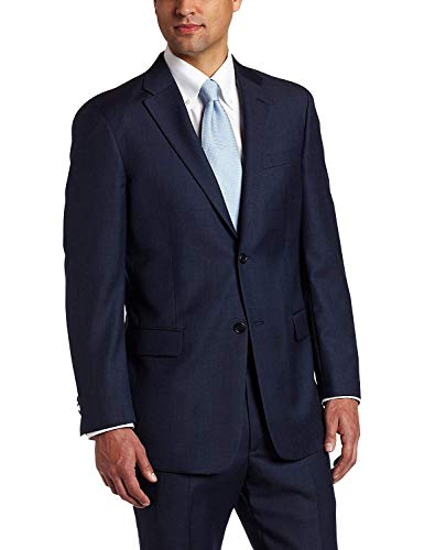 (Tommy Hilfiger Mens 2 Button Side Vent Trim Fit 100% Wool Suit Separate Coat,  Blue, 42)