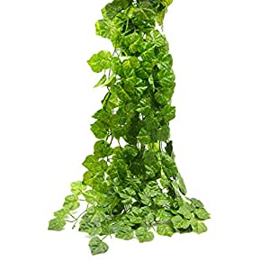 Artificial Flowers Fake Hanging Vine Plant Leaves Garland Home Garden Wall Decoration 12