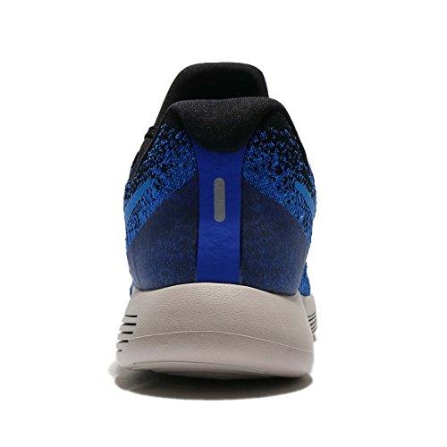 Nike Heren Lunarepic Low Flyknit 2, Zwart / Foto Blue-racer Blue-college Zwart / Foto Blue-racer Blue-college