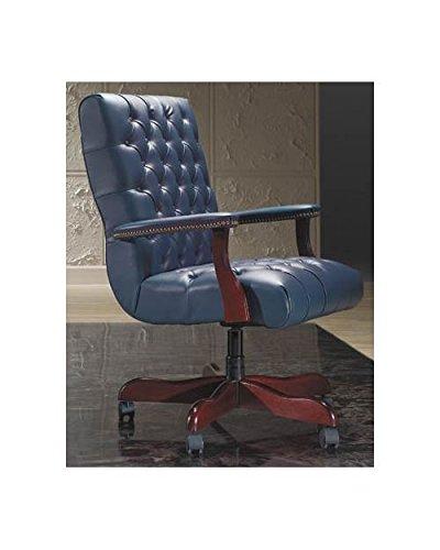 - Executive Swivel Chair w Upholstered Platform Arms (752-Merlot Fabric)