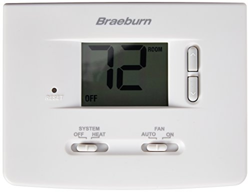 BRAEBURN 1025NC Thermostat, Non-Programmable, Heat Only (Thermostat Hydronic)