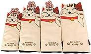 GOOACTION Lucky Cat Golf Club Head Covers for Driver/Fairway Wood/Hybrid with Creative Cartoon Animal Kitten P
