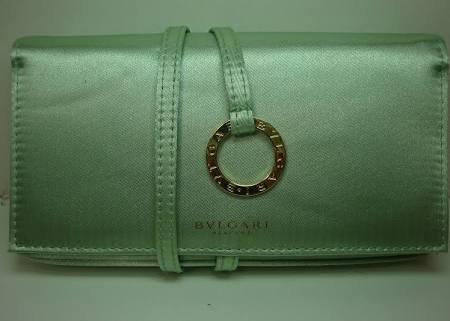 Bvlgari Mint Green Fragrance Clutch - Bvlgari Bag Green