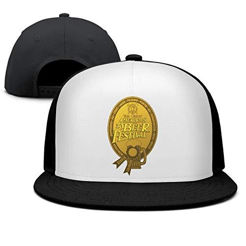 GuLuo Great American Beer Festival Gold Medal Flatbrim Baseball Cap Casual Adjustable Fits Snapback Hat