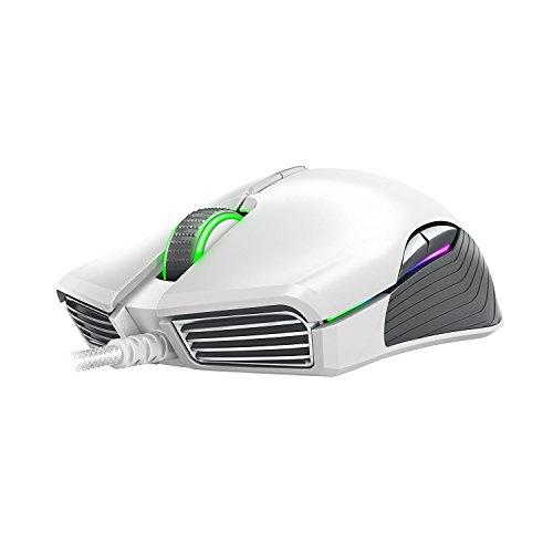ccbba88b7b6 Amazon.com: Razer Lancehead TE Ambidextrous Gaming Mouse - [Mercury White]:  16,000 DPI Optical Sensor - Chroma RGB Lighting - 8 Programmable Buttons ...