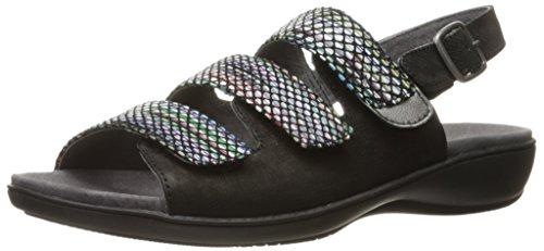 Trotters Women Kendra Wedge Sandal Black/Multi