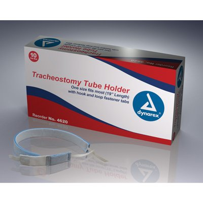 Dynarex Tracheostomy Tube Holder, Adult, Box/10