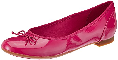 Clarks Couture Bloom Damen Ballerinas Fuchsia Patent
