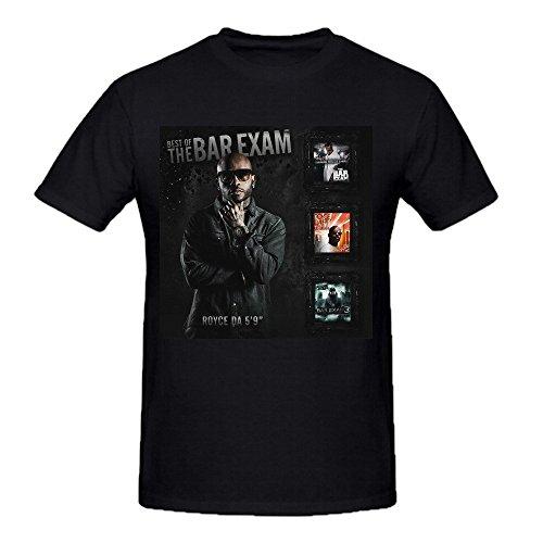 Royce Da 59 The Bar Exam Series Mens T Shirts Design Crew Neck Black