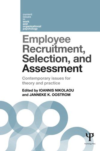 Buy cheap employee recruitment selection and assessment contemporary issues for theory practice current work organizational psychology