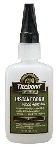 15 Pack Franklin 6221 Titebond Instant Bond Thick Wood Adhesive - 2-oz Bottle