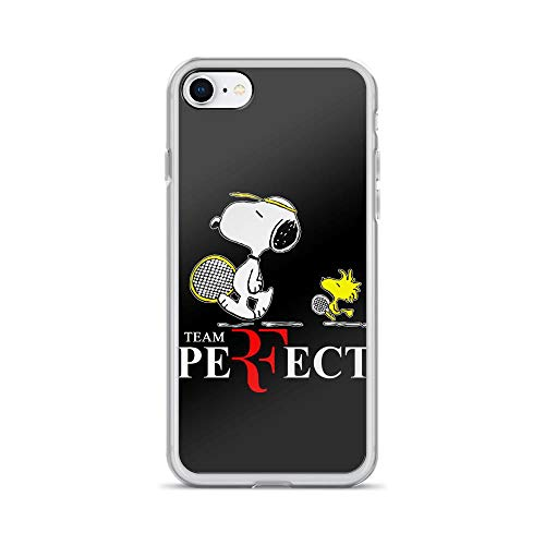 iPhone 7/8 Pure Clear Case Cover Snoopy and Woodstock Tennis Team Perfect]()