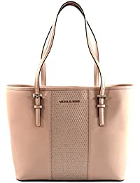Women's Jet Set Travel Micro Stud Leather Carry All Tote Handbag