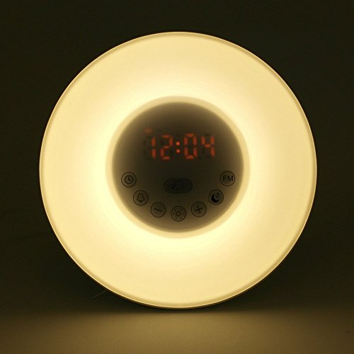 Wake Up Light Vansky Sunrise Alarm Clock Night Light