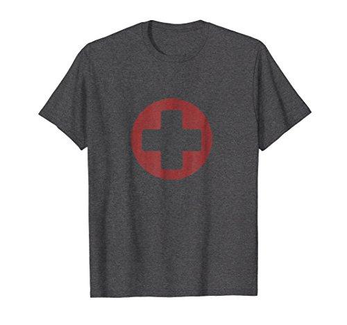 Mens Cross Red Guard Life Tee Shirt Standard Red Mesh Tone XL Dark Heather ()