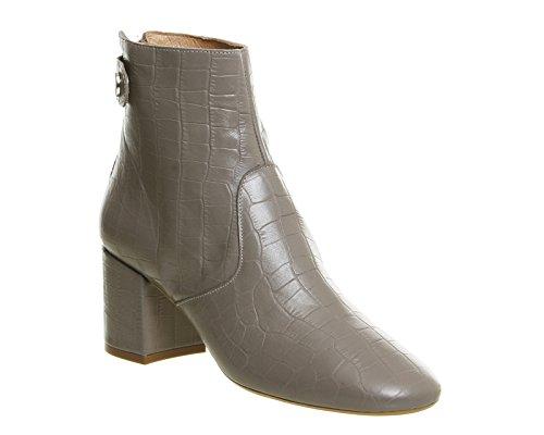 Unbekannt Leather para Botas Grey Croc mujer wqB6wH7
