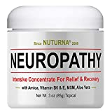 Clinical Strength Neuropathy Pain Relief Cream Advanced Nerve Support Leg Hand Foot Pain Relief, Large 3oz Ultra Strength Arnica, MSM, Menthol, Instant Soothing Relief, Fast-Acting Anti-Inflammatory