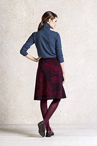Ivko Jacquard with Pleats Rock brown-red (62525) Gr.42