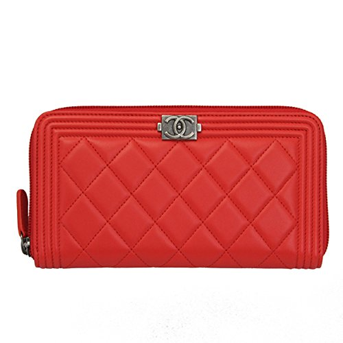 a5e31ff6c8ca71 Chanel Women's Red Leather Long Wallet A80288 Y04639 Zip Around | in the UAE.  See prices, reviews and buy in Dubai, Abu Dhabi, Sharjah - Desertcart UAE