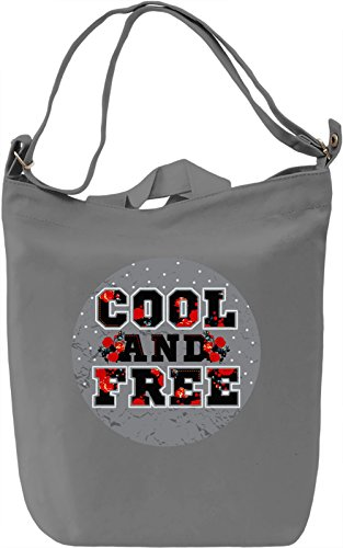 Cool And Free Borsa Giornaliera Canvas Canvas Day Bag| 100% Premium Cotton Canvas| DTG Printing|
