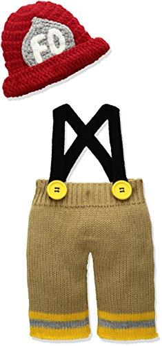 Mud Pie Baby-Boys Newborn Crochet Photography Set, Fireman, 0-3 Months