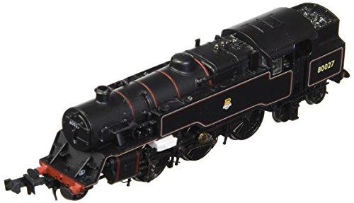 Graham Farish G372-535 Class 4MT Tank 80027 BR Lined Black Early Emblem N Scale Model Train