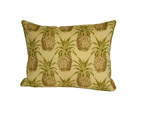 Rennie & Rose Pineapple Throw Pillow, 12-Inch by 16-Inch [並行輸入品] B07RCVWV75