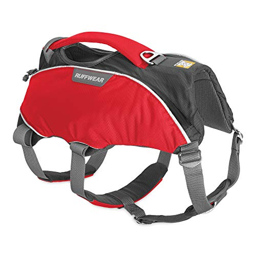 RUFFWEAR - Web Master Pro Dog Harness, Search and Rescue, Service Dogs, Snowboarding, Skiing, Everyday Wear, Red Currant, Small