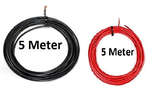 KFZ Universalkabel - FLRY Typ B - 4mm² - Set - Schwarz - Rot 5 Meter ( 1, 89 € pro Meter ) Freizeit - Wittke