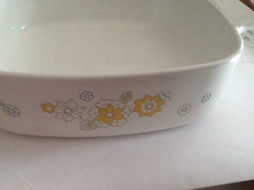 Floral Casserole Dish - Vintage Corning Ware Floral Bouquet 1 Quart Casserole Dish A-1-B Corning Ware Small Casserole