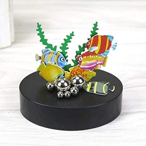 ZAMTAC Home Desk Decoration Accessories Magnetic Sculpture Decompression Ornament Butterfly Fish Figurines ElimElim - (Color: Fish)