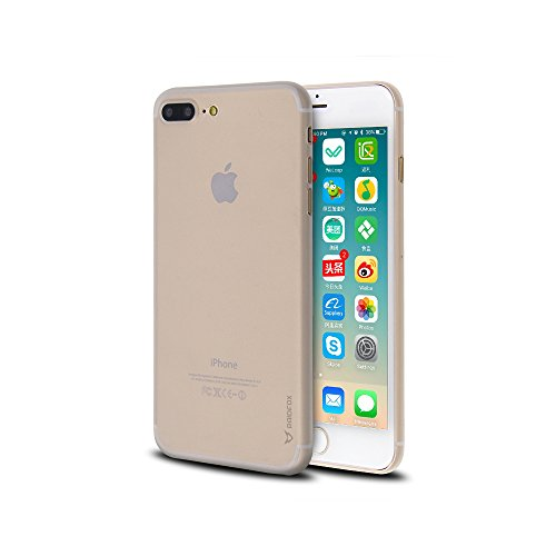 Raidfox Ultra Slim Soft Case for iPhone 7 Plus - Clear Matte Transparent Cover - Flexible TPU Shell - See Through Skin Protector Faceplate (Case Cover Protector Faceplate)