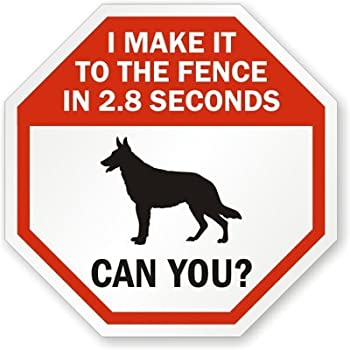 """I Make It To The Fence In 2.8 Seconds Can You? with Graphic Sign, 10"""" x 10"""""""